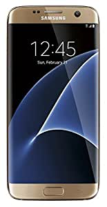 Samsung Galaxy S7 EDGE 32GB Verizon + AT&T + T-Mobile Unlocked GSM Smartphone - Gold (U.S. Version)