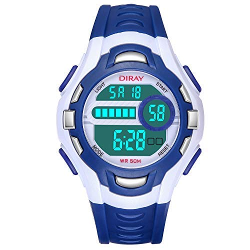 Reloj Digital para Niños Niña,Chicos Chicas 50M(5ATM) Impermeabl Deportes al Aire Libre LED Multifuncionales Relojes de Pulsera con Alarma para ...