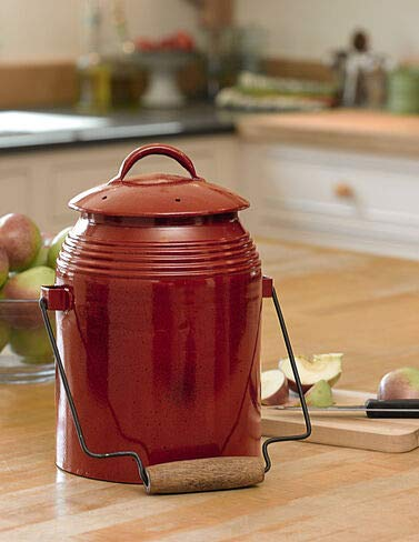 Gardeners Supply Company Rustic Farmhouse Style Kitchen Compost Crock