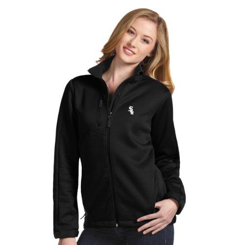 (MLB Chicago White Sox Women's Traverse Jacket, Black, Large)