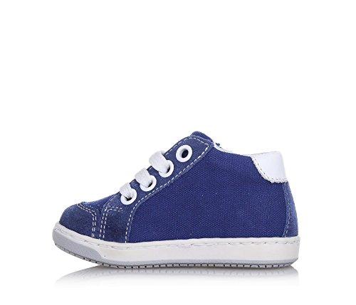 BALOCCHI - Chaussure à lacets bleue, en suède et tissu, réalisée avec des matériaux naturels d'haute qualité, garçon, garçons