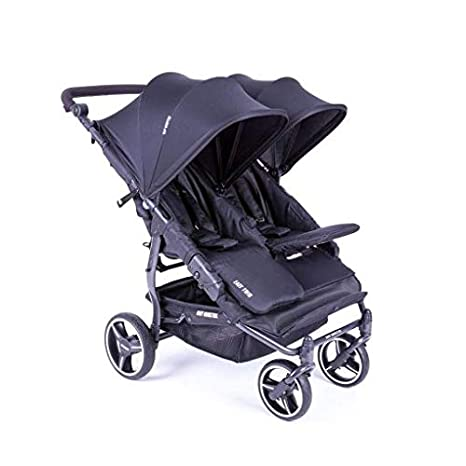 Baby Monsters Easy Twin 3.0S color negro + burbuja de lluvia + barra delantera gratis
