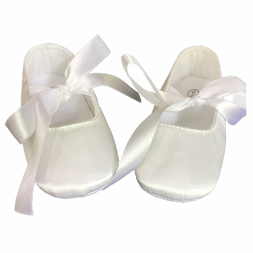 Silk Baby Shoes - Dollbling Christening Shop Off White Silk Duplion Satin Ballet Baby Shoes Baptism Keepsake