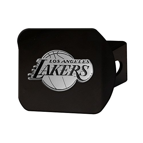 FANMATS 21013 NBA - Los Angeles Lakers Black Hitch Cover, Team Color, 3.4''x4'' by Fanmats