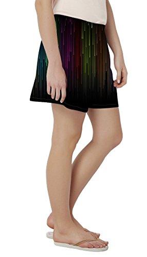Snoogg Damen Relaxed Short Mehrfarbig Mehrfarbig