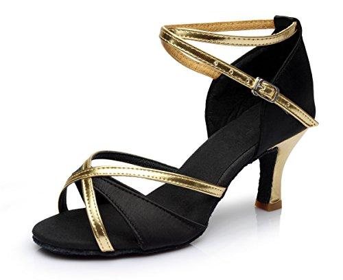 Baile Tacón de Tacón Latino Zapatos Alto VESI de para 5cm Medio Mujer 39 Negro aRxEqwWA44