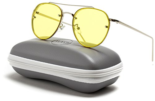 WearMe Pro - Colorful Tinted Lens Metal Frame Aviator - Colorful Lens