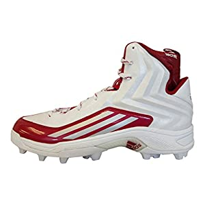 Adidas Crazyquick 2.0 High MD NCAA Mens Football Cleat 12.5 White-Platinum-Power Red