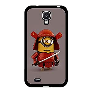 Personalized Cartoon Design Minions Logo Protect Skin Samsung Galaxy S4 I9500 Protective Cover Case with Creative Minions Anime Element
