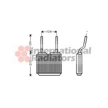 Van Wezel 37006132 Heat Exchanger, Interior Heating