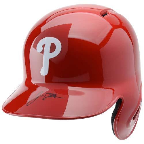 (J.T. REALMUTO Autographed Philadelphia Phillies Batting Helmet FANATICS)