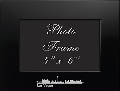 LXG, Inc. Las Vegas, Nevada-4x6 Brushed Metal Picture Frame-Black ()