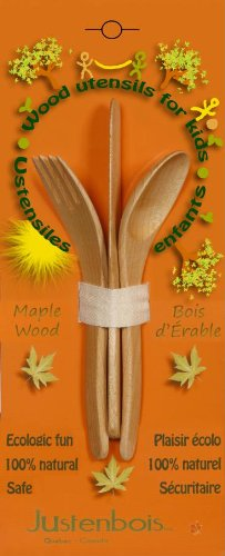 Justenbois Wood Utensils for Kids