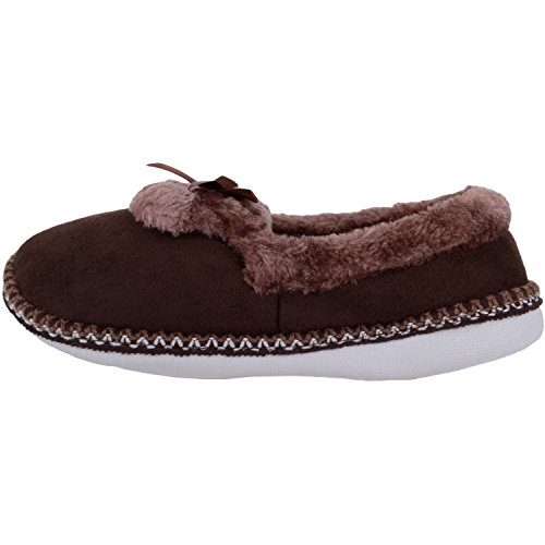 Dark Soft Womens Shoes Indoor With Absolute Slippers Brown Footwear Inners Fur Fleece Faux 4wCnxOPgq