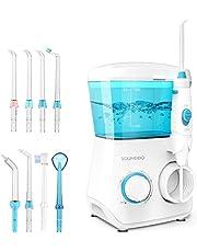 YOUNGDO Idropulsore Dentale Professionale da capacità 600ml, Irrigatore Orale con 10 modalità, Irrigatore Dentale con 8 Ugelli di Ricambio per Pulizia Dentale e Igiene Dentale