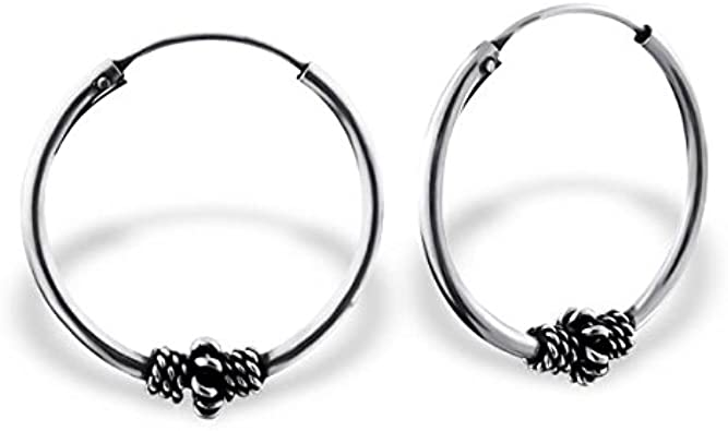 16mm Bali Hoops 925 Sterling Silver Liara Polished And Nickel Free