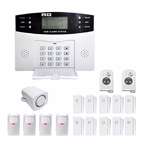 Naladoo Wireless LCD GSM & SMS Autodial Casa Oficina Alarma Home House Security Burglar Intruder Alarm System with Auto Dialer Antirrobo Intruder