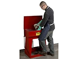 Justrite 27110 18-Gauge Coated Steel Floor Standing Rinse Tank, 11 Gallon Capacity, 24\
