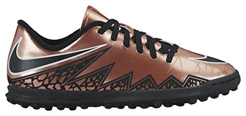 Nike JR Hypervenom Phade II TF, Botas de Fútbol para Niños Marrón / Negro / Blanco (Mtlc Rd Brnz / Blk-Grn Glw-White-)