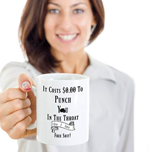 Throat Punch Adult Coffee Cup funny cup Free shit funny Coffee Cup Funny gift Coffee mug Coffee cup funny mug birthday gift rude