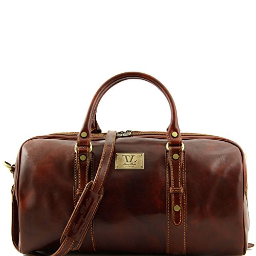 Tuscany Leather Francoforte Exclusive Leather Weekender Travel Bag - Small size Brown by Tuscany Leather