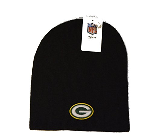 NFL Green Bay Packers Classic Knit Black Cuffless Beanie