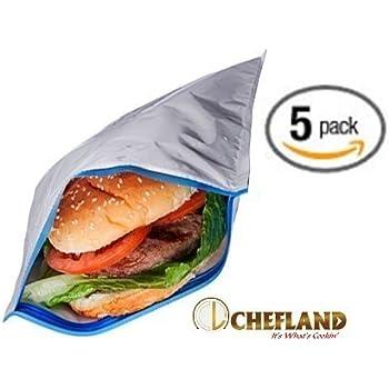 Amazon Com Insulated Resealable Sandwich Bag Reusable