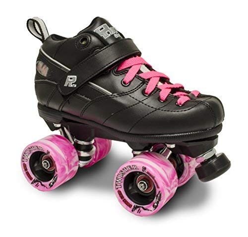 (ROCK GT50 TWISTER ROLLER SKATES W/PINK TWISTER AND PINK LACE SIZE 6)