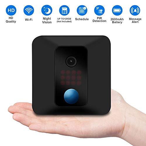 (Fuvision Security Camera, Wireless IP Battery Camera with Motion Detection, 90 Days Battery Life, Wall Mount, HD Video and Night Vision Surveillance Camera for Baby Pet)