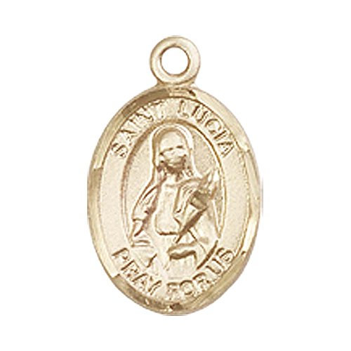 14kt Gold St. Lucia of Syracuse Medal. Patron Saint of Eye ()
