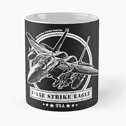 F 15e Strike Eagle F15e F15 Fighter Aircraft - Funny Coffee Mug, Gag Gift Poop Fun Mugs