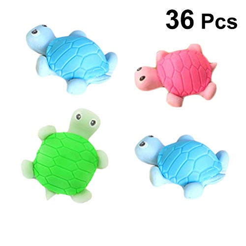 Zoo Puzzle Shaped Animals (YeahiBaby Erasers Assorted Tortoise Zoo Animal Shaped for Party Favors Games 36pcs (Random Color))