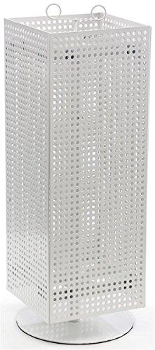 Displays2go - Estante giratorio para tabla de contar, magnético, 28', acero blanco (MD4PCTWH)