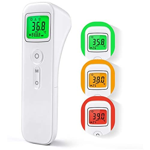 chollos oferta descuentos barato Termómetro Digital con Sensor Infrarrojo y Alarma de Fiebre Termómetro con 32 Memorias para Niños Adultos