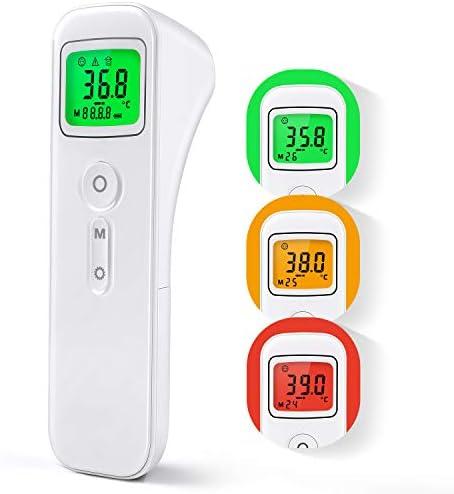 Termómetro Digital con Sensor Infrarrojo y Alarma de Fiebre Termómetro con 32 Memorias para Niños, Adultos: Amazon.es: Salud y cuidado personal