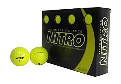 nitro ultimate distance golf balls yellow (12 balls)