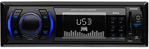 BOSS Audio 612UA Multimedia Car Stereo – Single Din, (No CD/DVD Player) MP3, USB Port, SD Card,...