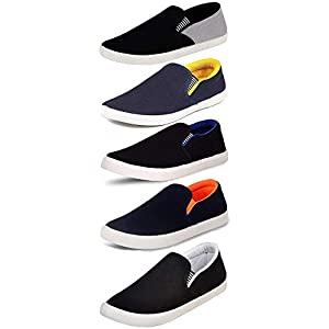 Ethics Perfect Combo Pack Of 5 Loafer Shoes For Men- Multicolour