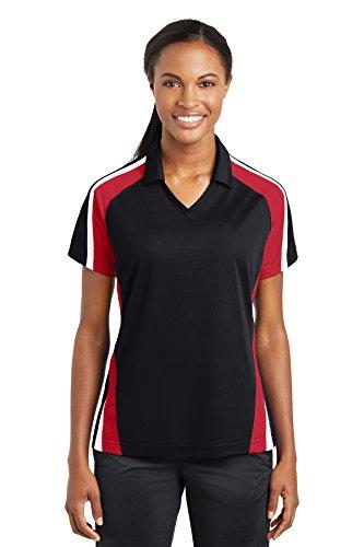 Sport-Tek -  Polo  -  Vestito modellante  - Donna Black/True Red/White XXXX-Large