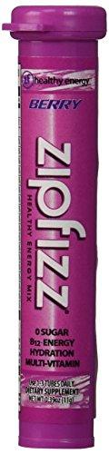 Zipfizz Berry Healthy Energy Drink Mix - Transform Your Water Into a Healthy Energy Drink - 30 Berry Tubes by Zipfizz