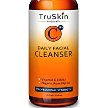 BEST Vitamin C Daily Facial Cleanser - Restorative Anti-Aging Face Wash for All Skin Types with 15% Vitamin C, Aloe Vera, MSM & Rosehip Oil