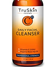TruSkin Naturals Vitamin C Daily Facial Cleanser combines the proven benefits of vitamin C with the gentle hydration of organic aloe vera, rosehip oil, and olive oil leaving skin feeling clean, soft, and hydrated. Plant extracts including Tea...