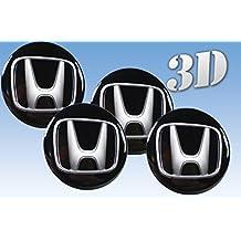 Wheel stickers Honda imitation all size Centre Cap Logo Badge Wheel Trims 3d (60mm.)