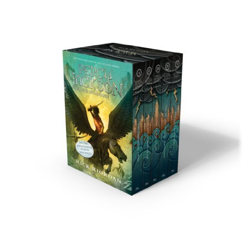 (Percy Jackson and the Olympians 5 Book Paperback Boxed Set (new covers w/poster) (Percy Jackson & the Olympians) by Riordan, Rick (2014) Paperback)