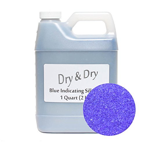 1 Quart Blue Replacement Desiccant Indicating Silica Gel Beads - 2 LBS Reusable by DRY&DRY ()