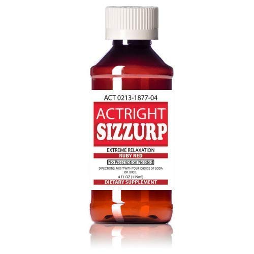 Actright Sizzurp (4oz) Red Relaxation Syrup