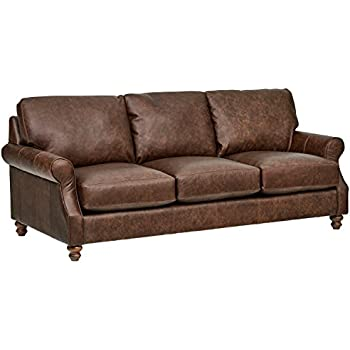 Amazon Com Simon Li Furniture Macco Leather Sofa In