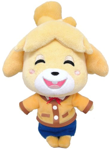 "Sanei Animal Crossing New Leaf Doll Smiling Isabelle/Shizue 9"" ..."