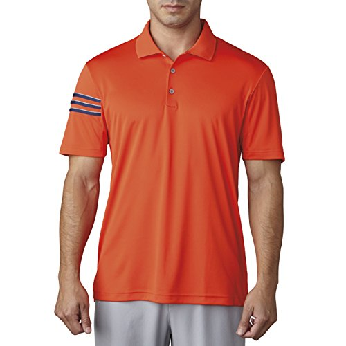 - adidas Golf Men's Climacool 3 Stripe Club Polo, Energy, Large