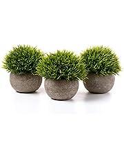 T4U Künstliche Pflanzen Kunststoff Künstliche Gras Bonsai Kunstblume Deko Kunststoff Stäucher Blumenarrangements Zuhause und Büro Dekoration Desktop Bonsai